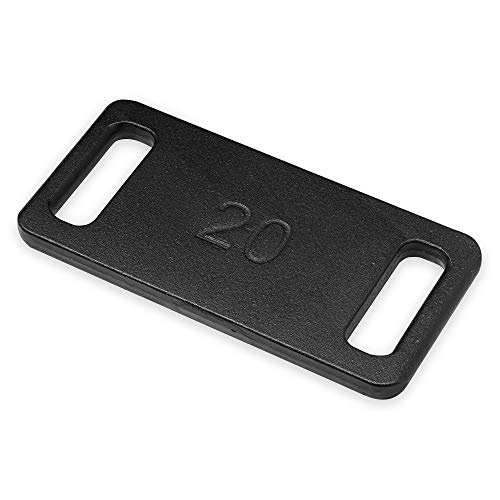 Heliofit Ruck Plate for Rucking Backpack - Cast Iron Ruck Weights for Ruck Sack - 20 lb/Pound