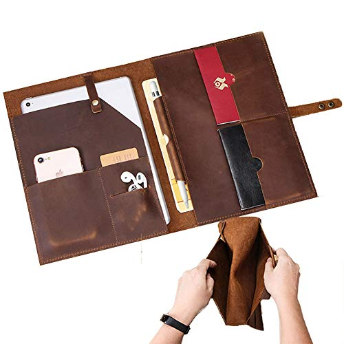 UPANV For iPad 8 10.2 Inch Case 2020, 10.5 Inch Premium Executive Portfolio Leather Case, Document Organizer with Pencil Holder for Apple iPad
