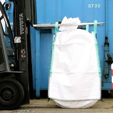 Big Bag 90 x 90 x 110 cm, Schürze, Boden geschlossen, unbeschichtet, uv stabilisiert, 4 Hebeschlaufen, SWL 1000 kg, SF 5:1