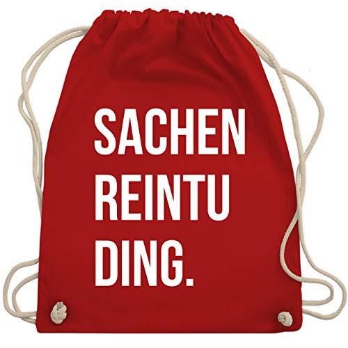 Shirtracer Festival Turnbeutel - Sachenreintuding - Unisize - Rot - sachenreintuding turnbeutel - WM110 - Turnbeutel und Stoffbeutel aus Baumwolle