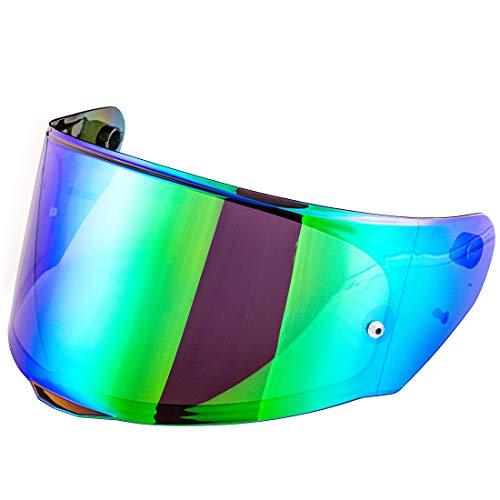 LS2 FF328 FF353 FF800 Helmet Visor Rapid Stream Model Face Shield LS2 FF320 Casco Pinlock Visera (Chrome Green)