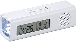 FMマルチステーション(ワイドFM対応) 6144 【防災グッズ 非常用 災害対策 多機能 置き時計 おんどけい デジタル時計 デジタルクロック】