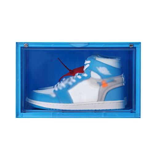 ZKLNO AJ Sneaker Sammelbox Vitrine Antioxidations Acryl Feuchtigkeitsbeständige Staubdichte Aufbewahrungsbox Mehrfarbige Optionale Aufbewahrungsbox,Blau