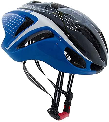 ZRDSZWZ Reliable Bike Helmet, Road Mountain Cycle Helmet for Men And Women, Lightweight Adjustable Bike Helmet Integrated Molding Helmet Safety Protection, 56~62Cm,Blackblue ( Color : Blackblue )