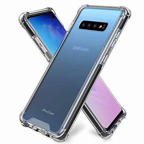 DYGG kompatibel mit hülle für Samsung Galaxy s10 plus/s10+ Hülle Handyhülle Luftkissen Weich TPU Silikon Schale Durchsichtige Schutzhülle Handy Case*2 Nicht enthalten Displayschutzfolie