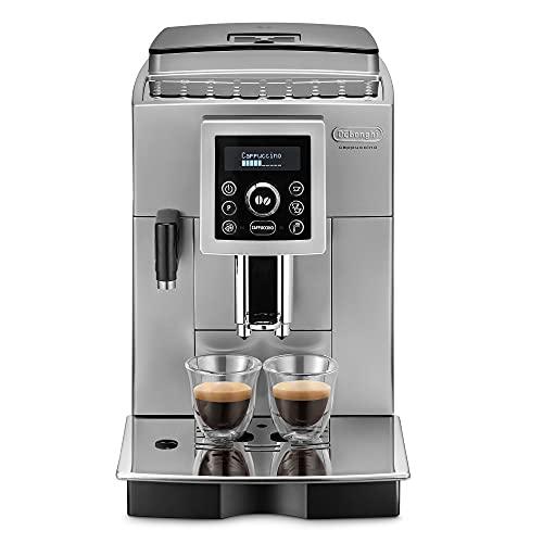 De\'Longhi ECAM 23.460.SB Kaffeevollautomat (15 bar Druck, Automatik-Cappuccino-System, abnehmbarer Wassertank 1,8 l, LCD-Panel, automatische Reinigung) silber/schwarz