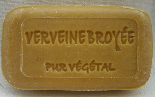 0.2lbs hand-poured SOAP 'ground Verbena (Verveine)' made of South of france, with Plant pieces by Savonnerie de Bormes
