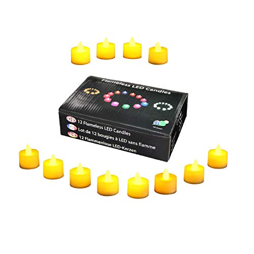 PK Green Candele a LED con batteria, ambra - set di 12