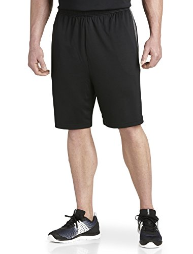 Reebok Big and Tall Play Dry Tech Athletic Shorts Black Grey