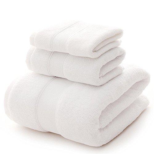 YIH Juego de toallas de baño Clearance 900 GSM Premium 6 piezas Sábanas de baño blanco de lujo Hotel Spa 100% algodón, 2 toallas de baño, 2 toallas de mano y 2 paños 🔥