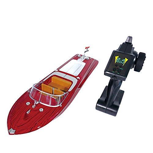 ADLIN Fernbedienung Boot, RC Boot, High-Speed-Fernbedienung Boot, MiniRc Speedboat, 2,4 GHz 4-Kanal Elektrorennboot for Schwimmbäder und Seen, eingebautes Wasserkühlsystem for Kinder BO