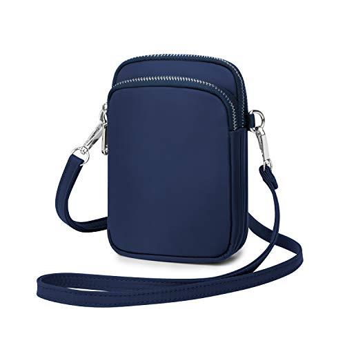 Wind Took Handy Schultertasche Kleine Damen Umhängetasche Handytasche Brieftasche Kartentasche Crossbody Bag Mini Sack, Blau