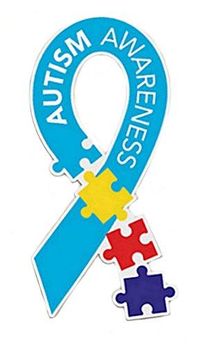 Autism Awareness Multi Color Puzzle Piece Car Magnet