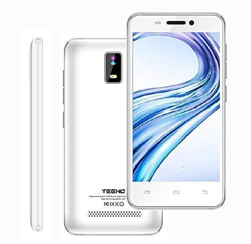 Moviles Baratos Libres, Telefonos Moviles Libres 1GB 8GB - 4G WiFi - Pantalla 4.0  - Dual SIM Dual Camera (Blanco)
