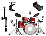 OCTO MOUNTS - Metal 360-Degree Adjustable Desktop or Music Mount for Drum Kit, Keyboard, Mic or Guitar Stand. Compatible with Smartphones and Action Cameras Including: iPhone, Samsung, Android, HTC,