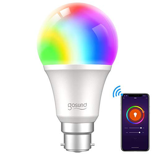 Smart Bulb, Gosund Alexa Light Bulbs 800Lm B22 75W LED Dimmable Wi-Fi RGB...