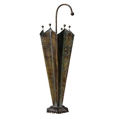 Schirmständer WSSF- Regenschirm Steht europäischen Dorf Nostalgie Eisen Metall Regenschirm Eimer handgemachte kreative Eisen Blume Eimer Handwerk Lagerung Inhaber, 22 * 68cm