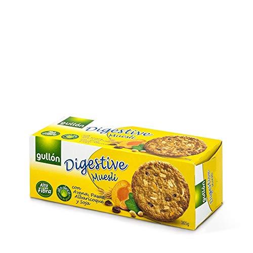 Gullón - Galletas Digestive fibra muesli avena y albaricoque - 365g