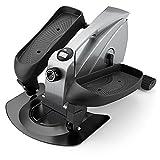 PERLECARE Under Desk Elliptical Mini Elliptical Machine, Desk Bike Pedal Elliptical with Non-Slip Design, Portable Handle, LCD Monitor & Adjustable Resistance, Suitable for Gym Office Home