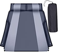 Heyoh Automatic SUV air Mattress, Self Inflating Sleeping pad for car Camping or Tent Camping, Self-Inflatable Car Mattress with Inflatable Pillow Used for Minivan/SUV/Truck Back seat (Black)