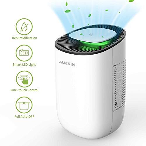 AUZKIN Dehumidifier 600ml Portable Damp Air Dehumidifiers Auto-Off Air Purifier Removing Damp and Mold for Home, Kitchen, Garage, Wardrobe, Basement