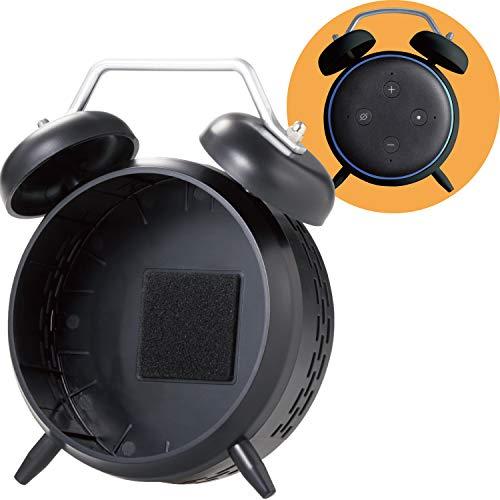 エレコム Amazon Eco Dot 第3世代 スマートスピーカー 専用ホルダー 専用ホルダー ClockStand 置き型 ブラ...