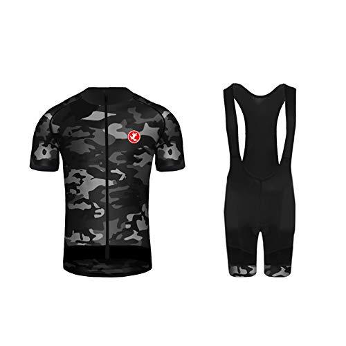Uglyfrog XSNL01F -  Maillot de ciclismo de manga corta y pantalón corto para bicicleta de montaña con cojín transpirable,  Hombre,  Color 11,  L