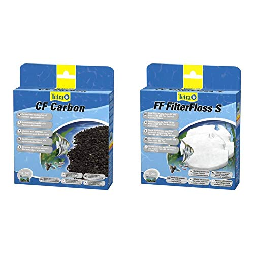 Tetra CF Carbon Kohlefiltermedium - Filtermaterial EX Außenfilter, versch. Größen & FF FilterFloss S - Feinfiltervlies EX Außenfilter