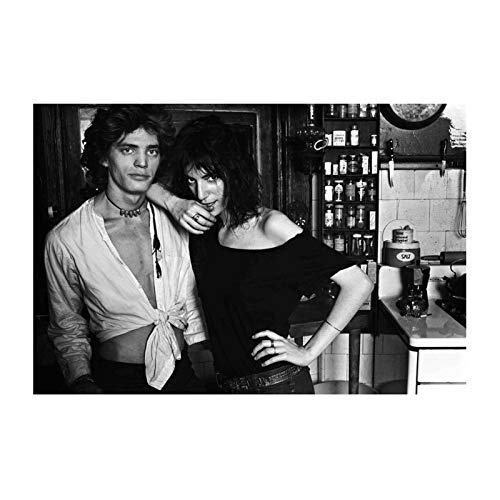FRTTCYO Patti Smith Bob Dylan Poster E Stampe Wall Art Print su Tela per Soggiorno Camera da Letto Decorativa Cafe Bar-20X28 Inchx1 Frameless