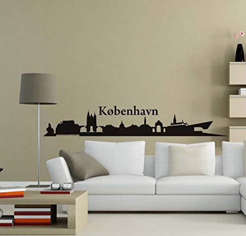 YUNZHIFU Hagen Silhouette muursticker afneembare PVC muursticker zelfklevend behang voor de woonkamer muurkunst 174cm X 29cm