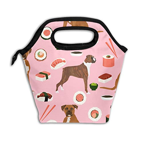Lao Yang Mai Boxer Dog Sushi Chopsticks Cute Japanese Best School Lunch Containers Bag Pail Pack Accessories Tote Ice Cooler Insulated Reusable Box Hot Food Bento Warmer Prep Set Kit Decorations