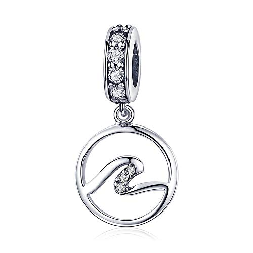 Zilveren Wave Hot Sale Authentieke 925 Sterling Zilver Wave Geometrische Hanger Charms Fit Originele Armbanden & Kettingen Sieraden
