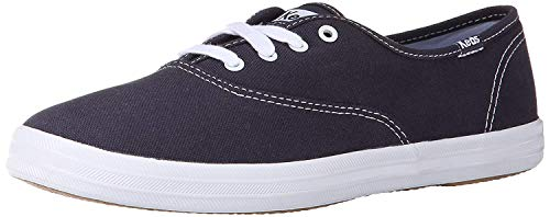 Keds Women's Champion Original Canvas Lace-Up Sneaker, Navy, 4 M US