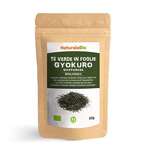 Japanischer Grüner Tee Gyokuro Bio 50g. 100% natürlicher und reiner grüner Tee lose in Blättern...