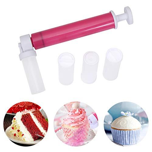 behone Aerógrafo manual para decorar tartas Multiusos Pulverizador de Repostería con 4 atomizadores y pistola, herramientas de decoración de tartas para Colorear glaseado de Cupcakes y Pastele
