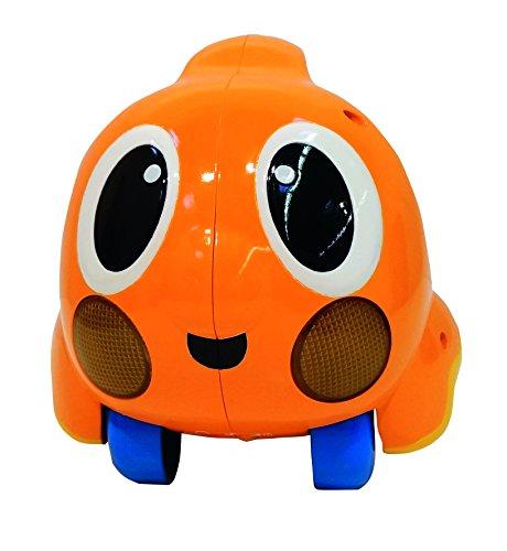 Little Tikes Lil Ocean Explorers Push n' Glow Poisson – Véhicule facile à tenir avec lumières & sons – Jouet de bébé orange divertissant – Encourage les jeux imaginatifs, de la naissance à 3 ans