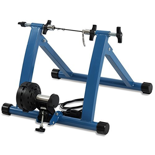 Akonza Indoor Cycling Bicycle Magnetic Trainer W/Seven Levels Of Resistance Exercise Stand - Blue