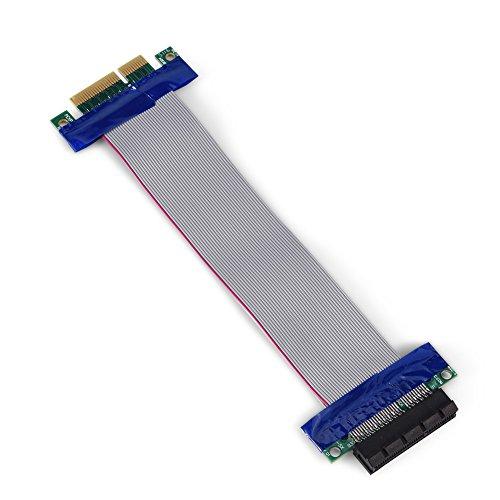 PCI-E naar VGA-kaart verlengde kabel, professionele PCI-E man-vrouw VGA grafische kaart verlengde lintkabel(4x tot 4x)