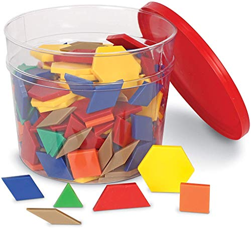 Learning Resources- Blocchi di plastica da incastrare da 0,5 cm, Colore, LER0134