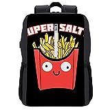 Super Salty French Fries Mochila Daypack Bookbag Laptop School Bag con puerto de carga USB