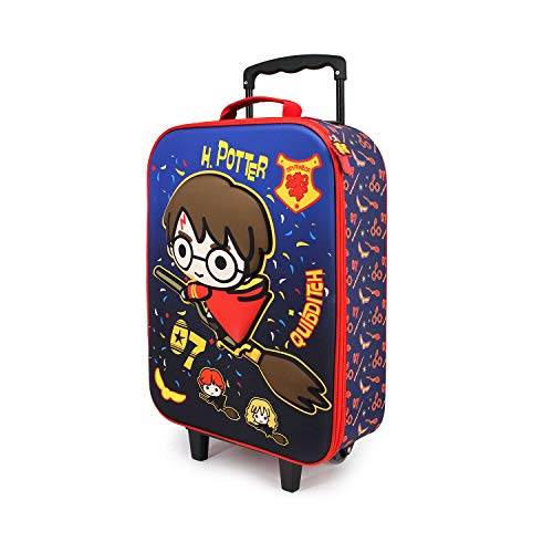Karactermania Harry Potter Quidditch - Maleta Trolley Soft 3D, Multicolor, Un tamaño