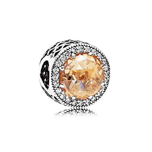 LILANG Pandora 925 joyería Pulsera Plata esterlina océano corazón Copo de Nieve Ojo de Gato arcoíris Pulsera con Collar de Accesorios de Bricolaje A14 Encanto Mujeres Regalos de Bricolaje