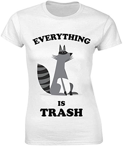 Everything is Trash Ferret Artwork T-shirt pour femme -...