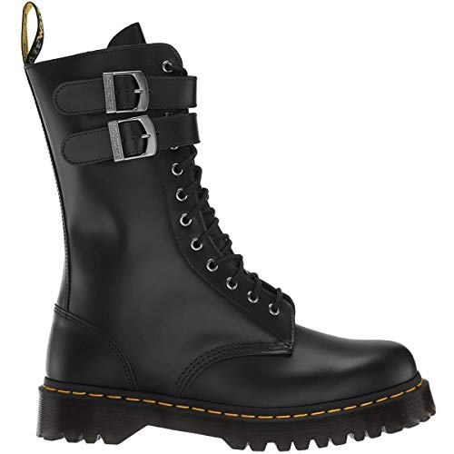 Dr. Martens Unisex Caspian Alternative Leather Lace Up/Buckle Boot Black Size 8