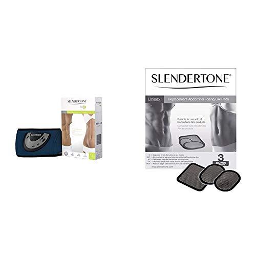 Slendertone Unisex Flex Abs3 Ab Toning Belt & Ab Belts Gel Pads - Black