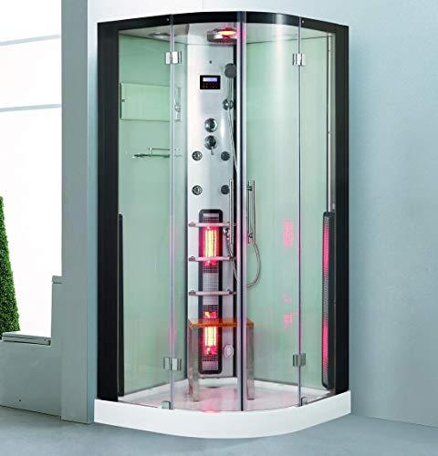 XXL Luxus LED Dampfdusche+Infrarotsauna Kombi Infrarot-Sauna-Wärmekabine +Radio