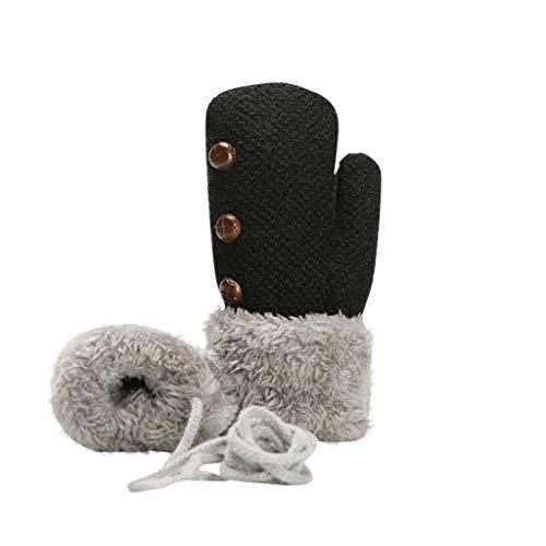 PRETTYEST Herbst und Winter Kleinkind Jungen Mädchen Warme Handschuhe Winter Handschuhe Fingerlose Fäustling Fäustlinge Fingerhandschuhe mit Flip Top 22cm