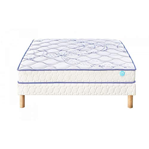 Ensemble Matelas 100% Latex Merinos SCOPIT Confort Morphologique 19 cm 120x190