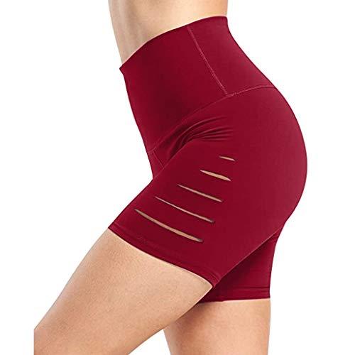 LANSKRLSP Pantalones Cortos para Mujer Gym Pantalones de Yoga de Running de Deporte Slim Fit Deportiva Trabajo Transpirables Chándal