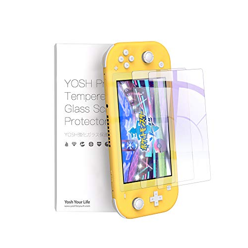 二枚入り Nintendo Switch Lite ガラスフィルム 飛散防止 保護フィルム 任天堂 スイッチ フィルム 強化保護ガラス 日本旭硝子素材 ブルーライトカット95% 硬度9H ガラス指紋防止 気泡ゼロ 自動吸着 高透過率メーカー正規品 60日間交換対応 YOSH
